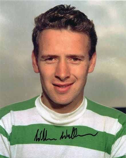 Willie Wallace, Glasgow Celtic, Lisbon Lions, signed 10x8 inch photo.